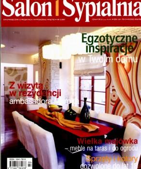 """W CIENIU CHIŃSKICH OGRODÓW – """"SALON I SYPIALNIA"""" 3/2007, WYD. PUBLIKATOR SP. ZO.O."""