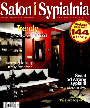 """ZIELONA LIGA – URZĄDZAMY TARAS – """"SALON I SYPIALNIA"""" 3/2008, WYD. PUBLIKATOR SP. ZO.O."""