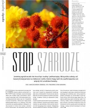"""STOP SZARUDZE """"ŚWIAT REZYDENCJI, WNĘTRZ & OGRODÓW"""" 9(35)/ 2012"""